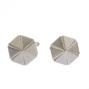 Lanvin SIlver Tone Hexagonal Cufflinks