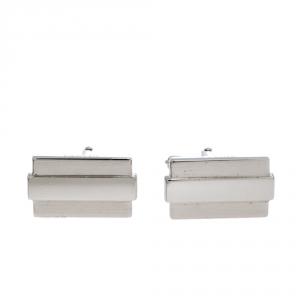 Lanvin Silver Tone Rectangular Cufflinks