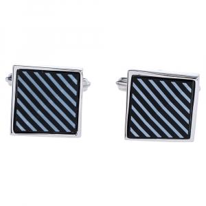 Lanvin Silver Tone Square Cufflinks