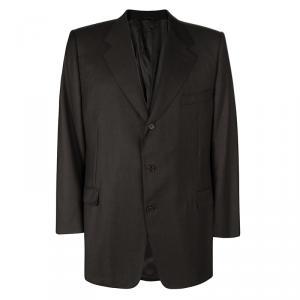 Lanvin Super 120 Brown Wool Regular Fit Blazer 6XL