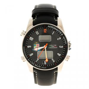 Locman Black Titanium Aeronautica Limited Edition Men's Wristwatch 44MM