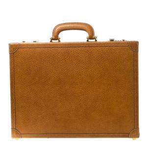 Loewe Tan Leather Briefcase