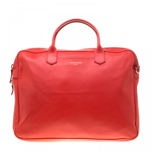 Longchamp Red Leather Parisis Document Holder Bag