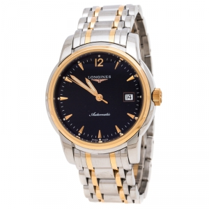 Longines Black 18K Rose Gold Stainless Steel L2.763.5.52.7 The Saint-Imier Men's Wristwatch 38 mm