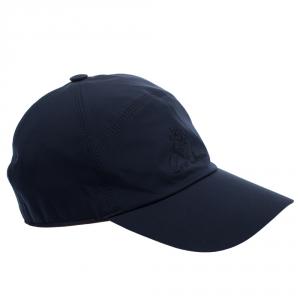 Loro Piana Navy Blue Storm System Baseball Cap L
