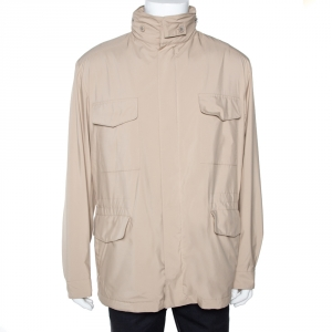 Loro Piana Beige Traveller Windmate Hooded Jacket XL