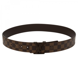 Louis Vuitton Damier Ebene Canvas LV Initiales Belt 90CM