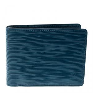 Louis Vuitton Cyan Epi Leather Multiple Bifold Wallet