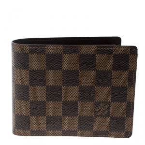 Louis Vuitton Damier Ebene Canvas Florin Wallet