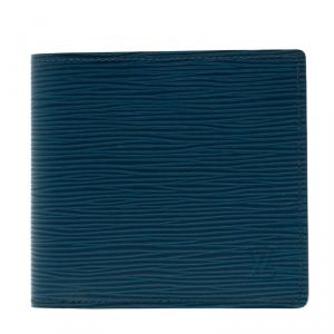 Louis Vuitton Bleu Celeste Epi Leather  Marco Bi-Fold Wallet