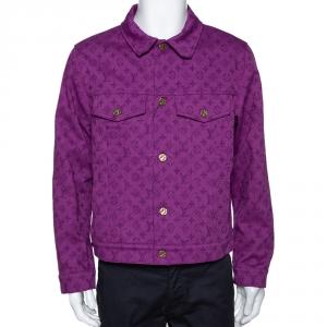 Louis Vuitton Purple Monogram Denim Jacket L