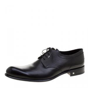 Louis Vuitton Black Leather Greenwich Derby Size 44