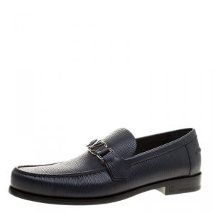 Louis Vuitton Navy Blue Epi Leather Major Loafers Size 42