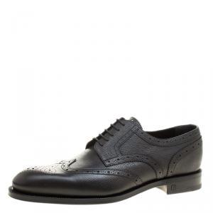 Louis Vuitton Black Brogue Leather Marquis Derby Size 42