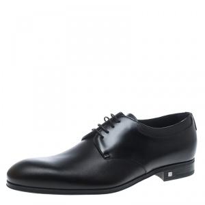Louis Vuitton Black Leather Lace Up Oxfords Size 41.5