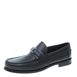 Louis Vuitton Ardoise Taiga Leather Major Loafers Size 43