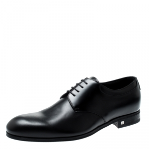 Louis Vuitton Black Leather Lace Up Derby Size 41