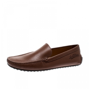 Louis Vuitton Brown Leather Loafers Size 43.5