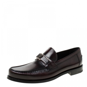 Louis Vuitton Burgundy Epi Leather Major Loafers Size 43