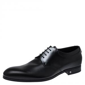 Louis Vuitton Black Leather Lace Up Derby Size 44