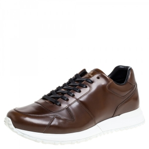 Louis Vuitton Brown Leather Run Away Low Top Sneakers Size 42