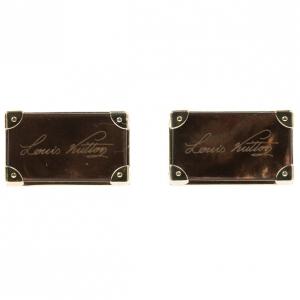 Louis Vuitton Brown Signature Cufflinks