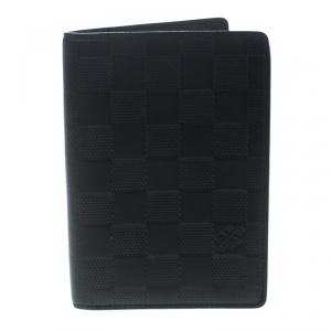 Louis Vuitton Black Damier Infini Leather Passport Cover