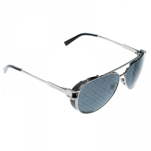 Louis Vuitton Silver/ Grey Z0982W Skyline Glacier Aviator Sunglasses