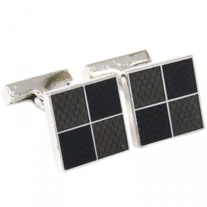 Louis Vuitton Damier 4 Sterling Silver Cufflinks