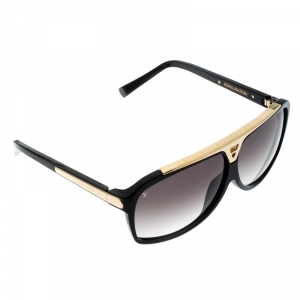 Louis Vuitton Black Gold/ Black Gradient Evidence Z0350E Wayfarer Sunglasses