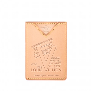 Louis Vuitton Beige Vachetta Leather Limited Edition Card Holder