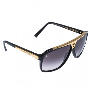 Louis Vuitton Black Gold/ Black Gradient Z0105W Evidence Aviator Sunglasses