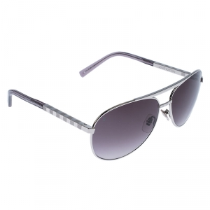 Louis Vuitton Silver/Grey Gradient Z0340U Attitude Pilote Aviator Sunglasses