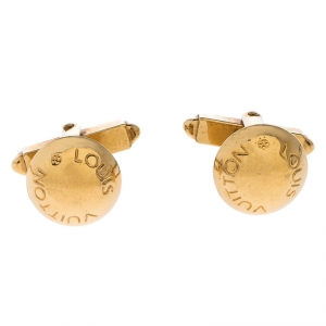 Louis Vuitton Gold Tone Cufflinks