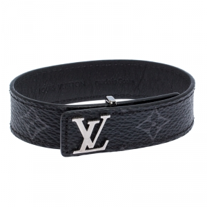 Louis Vuitton LV Slim Damier Graphite Monogram Canvas Bracelet