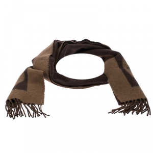 Louis Vuitton Brown Monogram Wool Muffler
