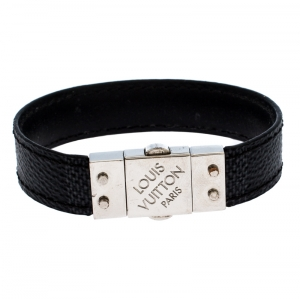 Louis Vuitton Black Damier Graphite Canvas & Leather Pull It Reversible Bracelet