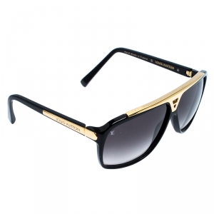 Louis Vuitton Black/Gold Z0350W Evidence Square Sunglasses