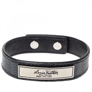 Louis Vuitton Damier Graphite Canvas Logo Plaque Bracelet