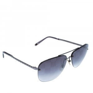 Louis Vuitton Dark Grey Damier Socoa Aviator Sunglasses