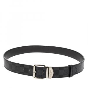 Louis Vuitton Damier Graphite Canvas Buckle Belt 90CM
