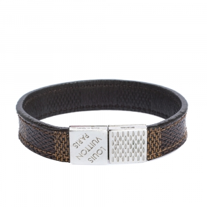 Louis Vuitton Brown Damier Ebene Pull It Bracelet