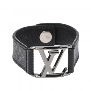 Louis Vuitton Monogram Eclipse Canvas Hockenheim Bracelet Size 21