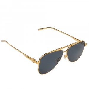 Louis Vuitton Gold Tone/ Grey Z1200W Nightlight Aviator Sunglasses