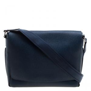 Louis Vuitton Blue Taiga Leather Roman MM Bag