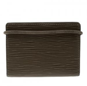 Louis Vuitton Pepper Epi Leather Porte Monnaie Elastique Wallet