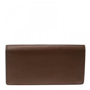 Louis Vuitton Brown Leather Brazza Wallet