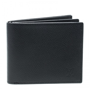 Louis Vuitton Black Taiga Leather Multiple Wallet