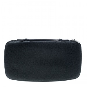 Louis Vuitton Black Taiga Leather Geode Organizer Clutch