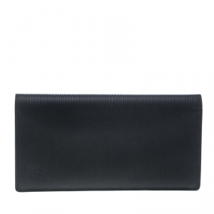 Louis Vuitton Black Epi Leather Credit Card and Currency Wallet